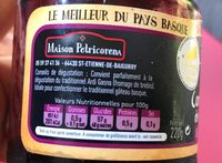 Confiture cerise - Nutrition facts - fr