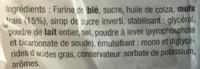 Les Madeleines Nature - Ingrédients - fr