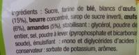 Petits fours amandes - Ingrédients - fr