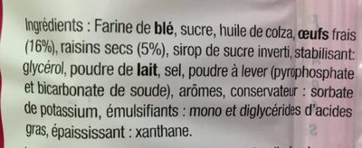 Moelleux aux raisins - Ingrediënten