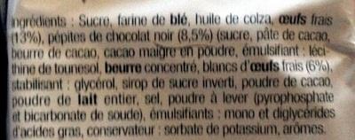 Brownies aux pépites de chocolat - Ingrediënten - fr