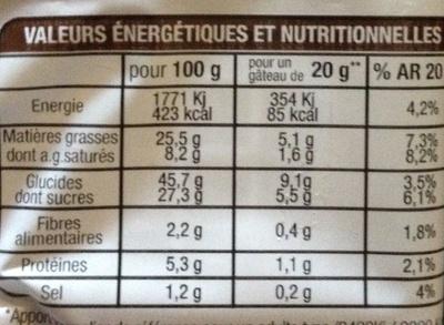 Brownies aux pépites de chocolat - Voedingswaarden - fr