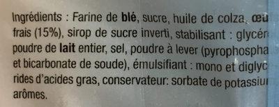 Madeleinettes nature - Ingredientes