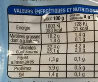 Madeleinettes nature - Información nutricional