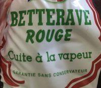 Betteraves - Ingrediënten - fr