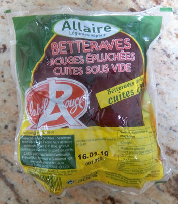 Betteraves rondes Label Rouge sous vide - Product