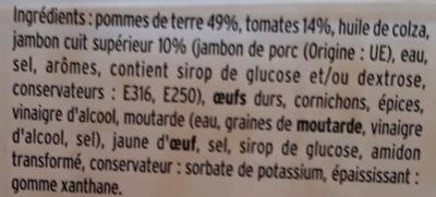 Piémontaise Jambon - Ingrédients - fr