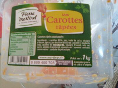 Mes carottes râpées - Ingrédients - fr