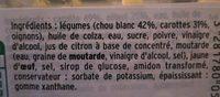 Chou blanc et carottes - Mon Coleslaw - Ingrediënten - fr