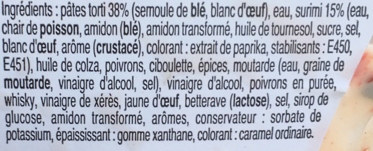 Mes Torti au Surimi à la ciboulette (+20 % offert) - Ingrediënten