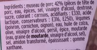 Mon Museau de Porc à la Provençale - Ingrédients - fr