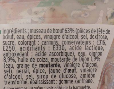 Museau de Boeuf à la moutarde de Dijon - Ingredients