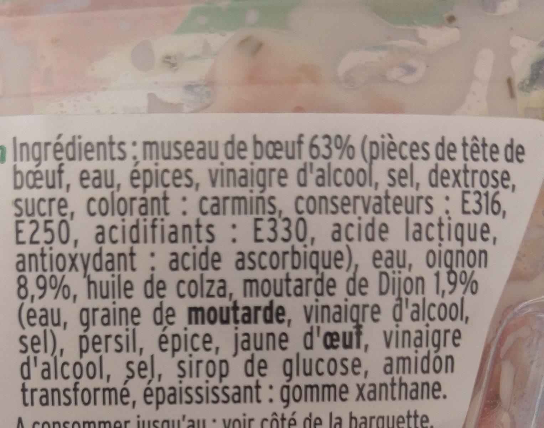 Museau de Boeuf à la moutarde de Dijon - Ingredients - fr