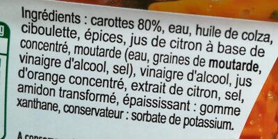 Carottes râpées à la ciboulette - Ingrédients - fr