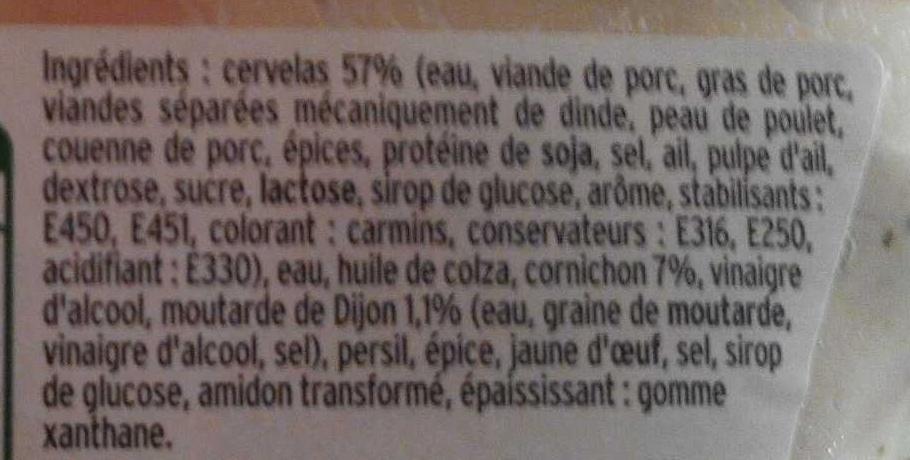 Cervelas rémoulade - Ingredients - fr