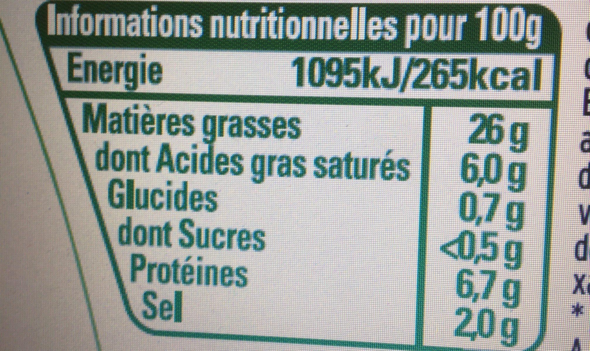 Cervelas rémoulade - Nutrition facts - fr