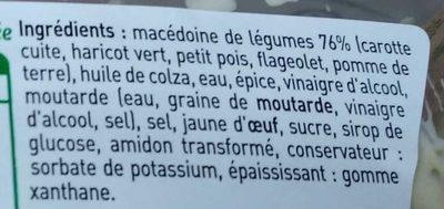 Macedoine de legumes assaisonnée - Ingrediënten - fr