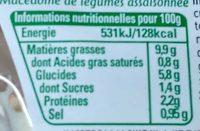 Macedoine de legumes assaisonnée - Voedingswaarden - fr