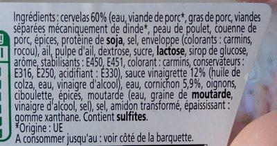 Mon cervelas Sauce Vinaigrette - Ingrédients
