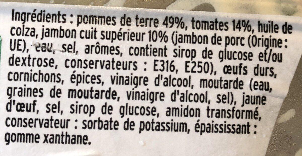 Ma Piémontaise Jambon aux Tomates Fraîches - Ingrédients
