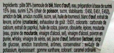 Salade de pâtes et de surimi - Ingrédients - fr