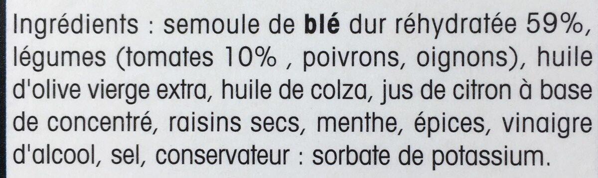 Taboulé oriental à l'huile d'olive vierge extra - Ingrédients - fr
