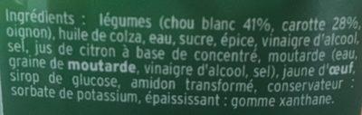 Mon Coleslaw - Ingrédients