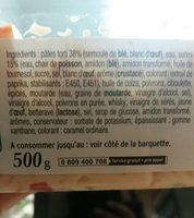 Tortis au surimi Pierre Martinet - Ingredients