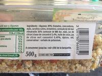 Taboulé aux 5 Légumes - Ingrediënten
