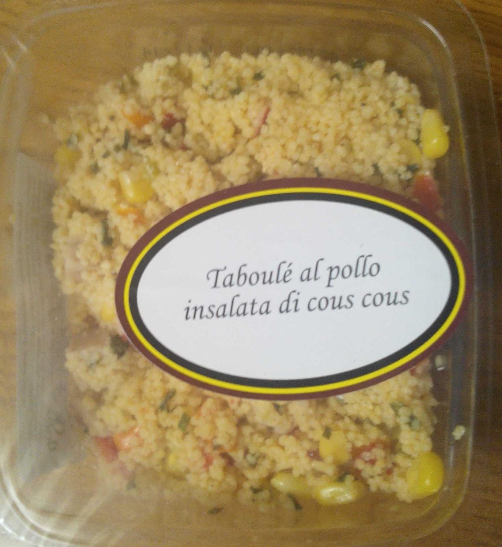 Taboulé al pollo insalata di cous cous - Produit