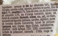 Taboulé aux crevettes - Ingrediënten