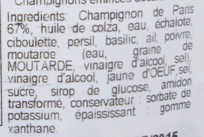 Mes Champignons aux Fines Herbes - Ingrédients