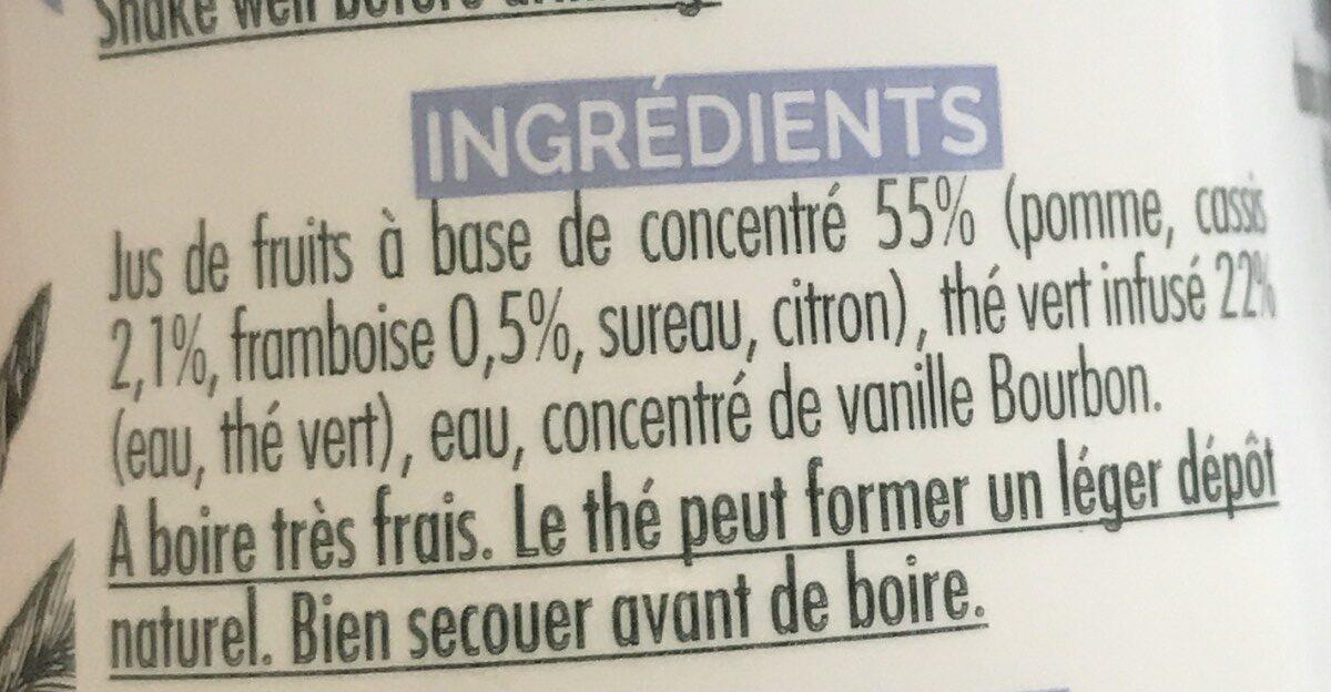 Green tea Raspberry Blackcurrant - Ingrediënten - fr