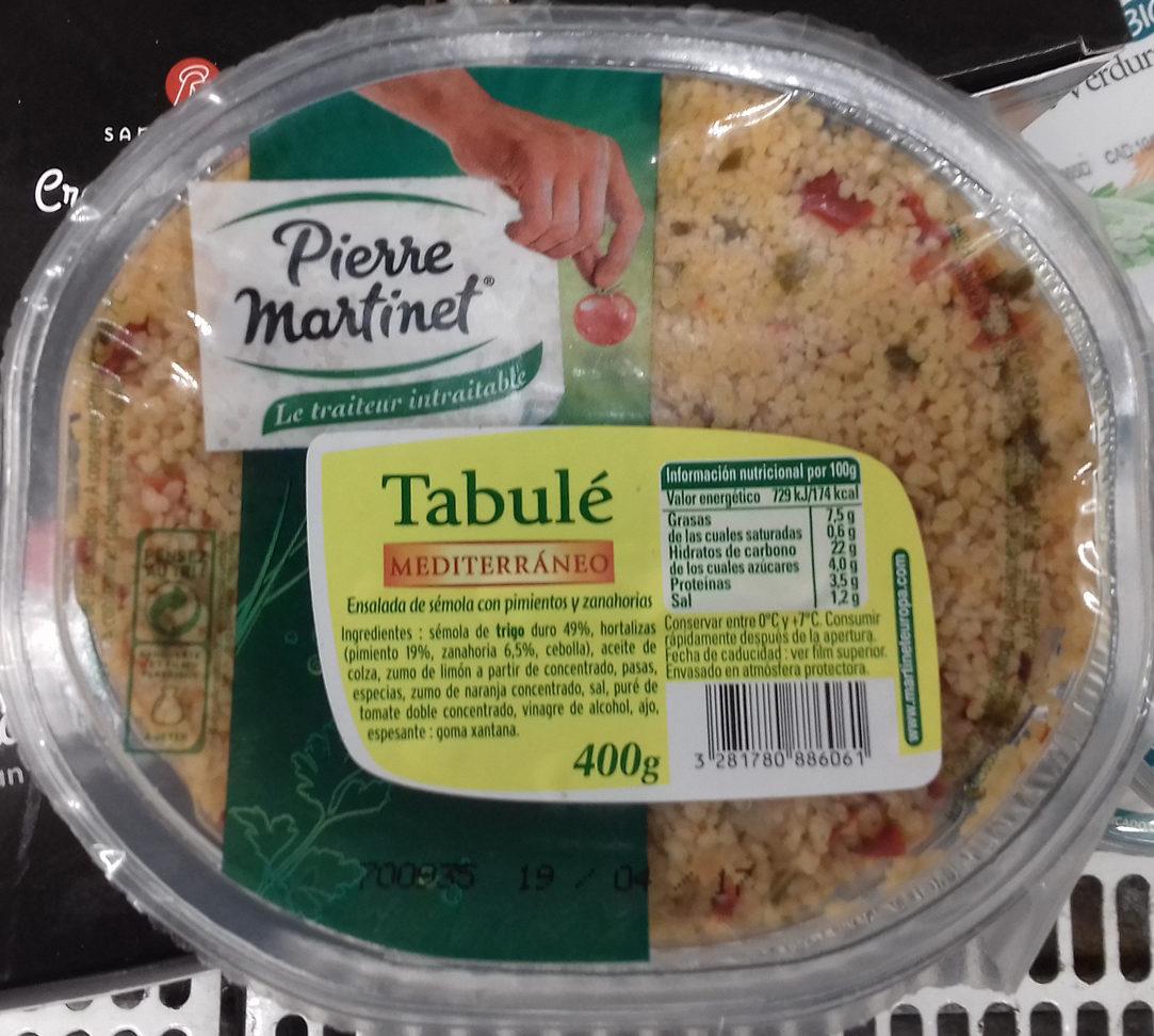 Tabulé mediterráneo - Producte