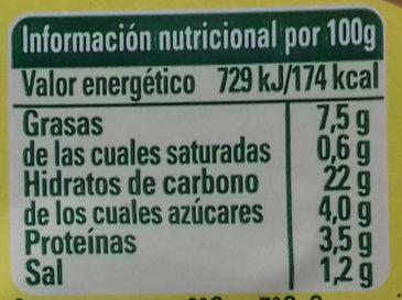 Tabulé mediterráneo - Informació nutricional