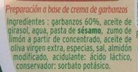 Hummus Clásico - Ingredients
