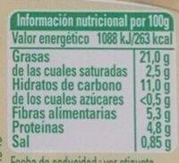Hummus Clásico - Nutrition facts