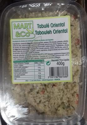 Tabulé oriental - Producto