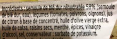 Mon Taboulé Oriental à l'Huile d'Olive - Ingredients