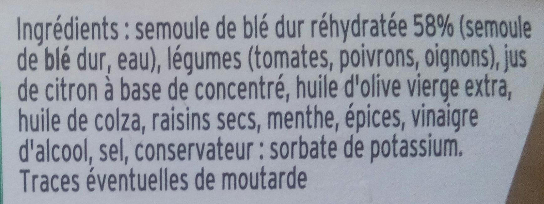 Mon Taboulé Oriental à l'Huile d'Olive - Ingrediënten - fr
