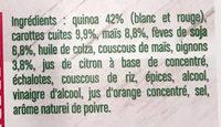 Salade de quinoa aux légumes - Ingredienti - fr