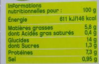 Trio de lentilles à la moutarde à l'ancienne - Végétal - Voedigswaarden