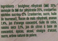 Salade de Boulghour - Ingrediënten - fr