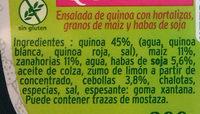 Salada de quinoa - Ingredients - es