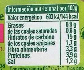 Salada de quinoa - Información nutricional