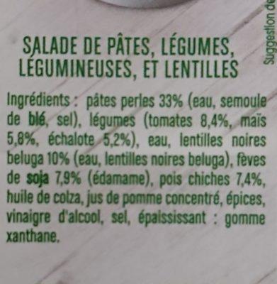 Salade de perles de blé à l'échalote - Ingredients - fr