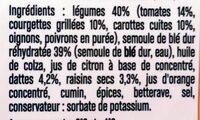 Légumes semoule de blé dattes cumin - Ingrediënten - fr