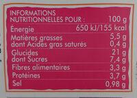 Légumes semoule de blé dattes cumin - Voedingswaarden - fr