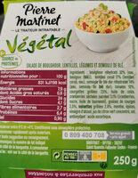 Végétal Salade de Boulghour - Ingrediënten - fr