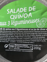 Salade de quinoa aux trois légumineuses - Product - fr